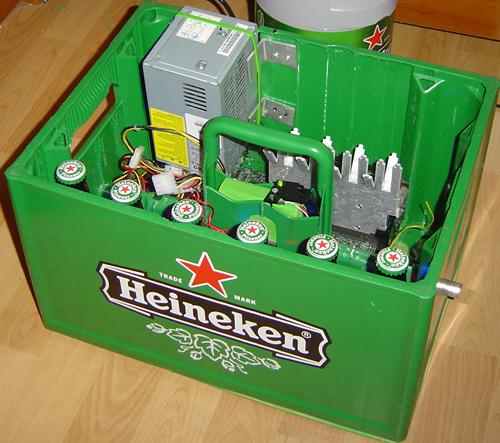 Heineken Beer Case PC - Computer built in a beer case