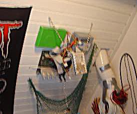 Ceiling PC - hard disks hanging