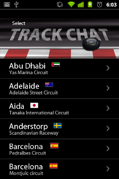 Track Chat Home